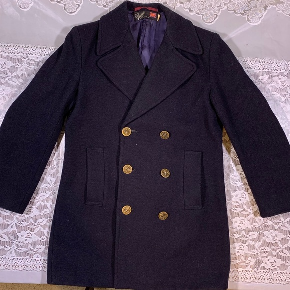 gloverall Other - ⚡️GLOVERALL England Vintage Wool Peacoat